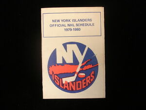 1979-80 New York Islanders Hockey Schedule