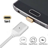 Magnetic Adapter USB-C Type C Male Charger Cable 1M For Samsung Galaxy S8 Plus