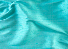 "100% Silk Dupioni Fabric in Light Turquoise 44"" Wide by the Yard a Rich Look DIY"