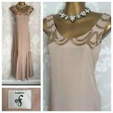 Fearne Cotton Maxi Dress Size 12 Nude Gown Holiday Cruise occasion Wedding Party
