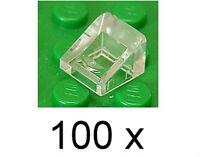 LEGO - 100 x Mini - Dachstein 30 Grad 1x1x2/3 transparent klar / 54200 NEUWARE