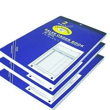"3 Sales Order Book Carbonless Receipt Book 8.5"" x 5.5"" - 50 sets per book"