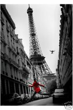 RIESEN Poster: PARIS / FRANKREICH - Red Jump  NEU XL856