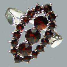 Size 6 Bohemian Rose Cut Garnet Sterling Silver Ring # SR-235 Jewelry Certificat