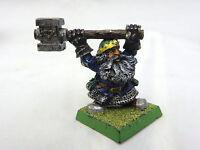 Warhammer Dwarf general lord champion  army lot metal oop painted