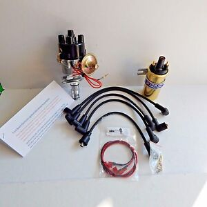 New Electronic Ignition Distributor Sport Coil & Wires Triumph TR3 TR3A TR3B TR4