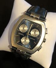 Michel Herbelin France Newport Chronograph Date Watch Navy Blue Stainless Steel