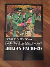 MANIFESTO,POSTER AFFICHE,1973,PACHECO JULIAN Bologna mostra Palazzo Galvani