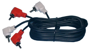 3 Ft Stereo Jumper Cable - RCA Right Angle Male to Male Phono Plug Each End