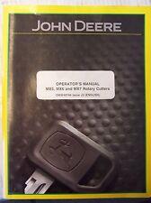 JOHN DEERE OPERATOR'S MANUAL MX5, MX6 & MX7 ROTARY CUTTERS