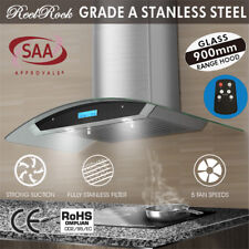 NEW Wall Mount Stainless Steel Range Hood 900mm Glass 90cm Rangehood Canopy