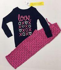 Gap Kids NWT Size 4 Years Pink Navy LOVE Pajamas Long Sleeve Top Pants XOXO