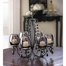 CANDLE HOLDER: MIDNIGHT ELEGANCE Centerpiece Candleholder or Chandelier NEW