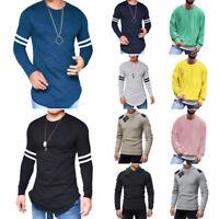 Mens Tops T-Shirt Blouse Long Sleeve Sport Football Jersey Jumper Pullover Shirt