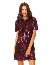 MOTEL ROCKS Sally Mae Shift Dress in Burgundy Small (S) (mr82)