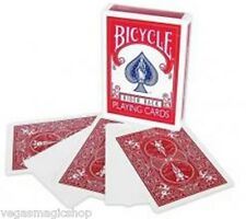 Bicycle Blank Face Red Back Deck Playing Cards Rider 808 USPCC - 4 Magic Tricks