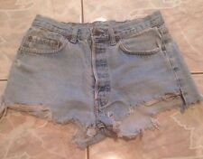 "Levis Vintage Cutoff Jean Shorts W 29"" Button Fly Cut Offs Inseam 2"" Distressed"