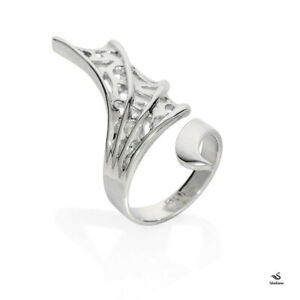 Dragon Wing Ring, 925 Sterling Silver, Plain Silver, wrap ring, adjustable