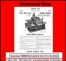 Sioux Model 645 & 645L Valve Grinder Instruction & Parts Manual on CD
