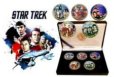 Star Trek - The Movies Colorized JFK Kennedy Half Dollar Coins Collection + COA