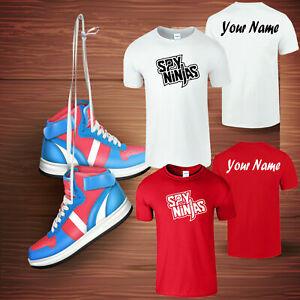 Personalised SPY Ninja Kids T-shirt Youtuber Inspired Boys Funny Gifts Merch
