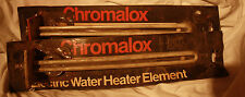 2 ea. CHROMALOX ELECTRIC WATER HEATER ELEMENT 240V 3500W TG style new / unused