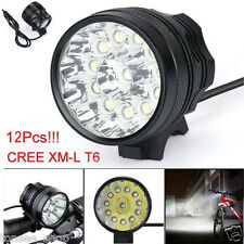 30000LM 11x CREE XM-L T6 LED Taschenlampen 6x 18650 Fahrrad Cycling Stirnlampen