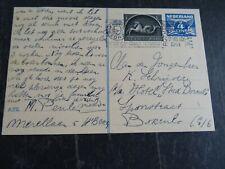 Nederland briefkaart G 242 bijfr. 405 Hillegersberg - Borculo 1944