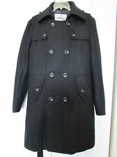 New Men's Double Breasted Wool Blend Overcoat Jacket