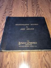 Linguaphone Institute 78's 5 Record Set Shakespearian By John Gielgud