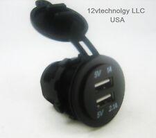 Weatherproof Universal USB Charger Adapter Socket 12 V to 5 V Outlet Power Jack