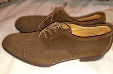VINTAGE ITALIAN MADE ALEXANDER MENS 9.5 SUEDE LEATHER CAP TOE SHOES
