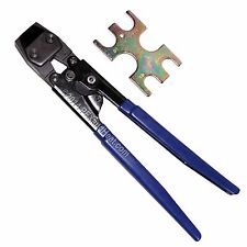 """PEX Cinch Crimp Crimper Crimping TOOL for SS Clamps 3/8"""" to 1"""" with GoNoGo Tool"""