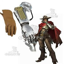 OW Overwatch Bounty Hunter McCree Cosplay Gloves Costume Halloween Comic Con
