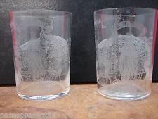 2 jolis anciens verres, Notre Dame de Lourdes