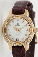 Estate $6000 Cyma 1ct VS G Diamond 18k Yellow Gold Ladies Watch NICE!!!