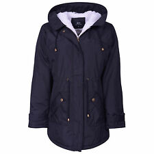 NEW WOMENS MILITARY PARKA COAT PLUS SIZE LADIES WINTER HOODED JACKET SIZE 10-26