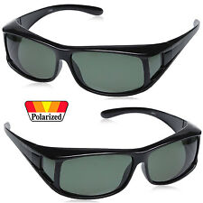 New Fashion Mens Womens Wrap Around Fit Over Polarized Sunglasses Sides Shied