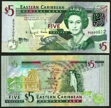 EAST CARIBBEAN STATES 2008  UNC 5 Dollars Banknote Paper Money Bill P-47a