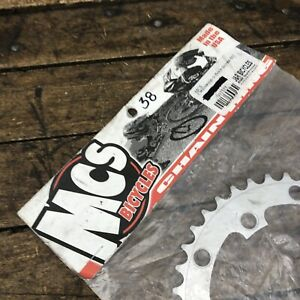 MCS Bicycles BMX Chain Ring 38T 110 130 BCD Sprocket 38 NOS