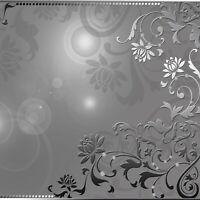 Tapete Grau Ornament Fototapete Vlies Abstrakt Wohnzimmer MODERN + KLEISTER