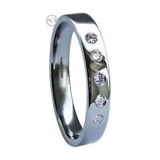Platinum Band Very Good Cut Round Fine Diamond Rings