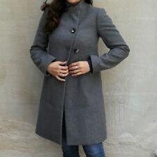 809f30eb920bc9 Cappotto classico vintage anni 60 elegante Benetton grigio taglia 38 lana  80%