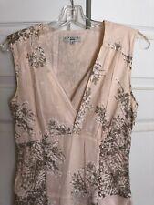 ESSENTIEL ANTWERP Dress Floral Pearl Buttons ANTHROPOLOGIE 36 Essential EUC