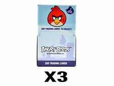 (3) Angry Birds Trading Card 36 Pack Boxes (7 Cards per Pack) Official Rovio Box