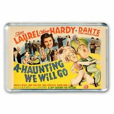 Laurel and & Hardy - A HAUNTING WE WILL GO - MOVIE POSTER JUMBO FRIDGE  MAGNET
