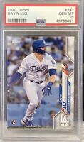 2020 Gavin Lux Topps Series 1 Rookie Helmet Los Angeles Dodgers #292 PSA 10