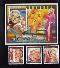 Marilyn Monroe Sexy Vintage Souvenir Stamp Sheets 1995 Burkina Faso E44