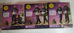 "Golds Gym Performance Sauna Suit (Sizes M/L, L/XL, XL/XXL) 30""-50"" waist by size"