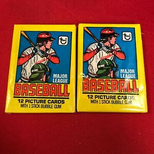 2 x 1979 Topps Unopened Packs possible Ozzie Smith RC ~AP24A